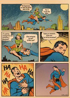 Ever wonder why Superman doesn't have a girlfriend (besides Batman)? Bd Comics, Funny Comics, Dc Memes, Funny Memes, Personnage Dc Comics, Batman, Superman Comic, Funny Superman, Hilarious Pictures