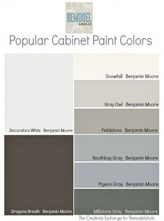 Popular Cabinet Paint Color. Great collection of cabinet paint color. #CabinetPaintColor #CabinetColorPalette #CabinetPaintColorIdeas Via remodelaholic.