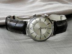 FS: Vintage Jaeger LeCoultre Memovox E855 Ebony Index Alarm watch