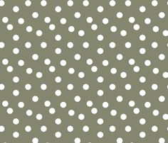 Polka Dots - Olive by Andrea Lauren fabric by andrea_lauren on Spoonflower - custom fabric