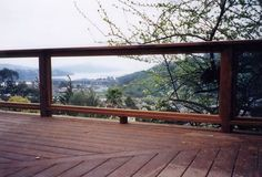 Glass Balustrades attached to timber decking with