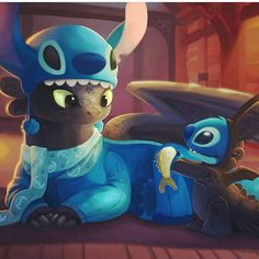 Toothless and Stitch Funny Iphone Wallpaper, Disney Phone Wallpaper, Disney Stitch, Lilo Stitch, Disney Kunst, Disney Art, Disney Animation, Toothless Wallpaper, Toothless And Stitch