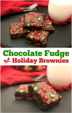 Baking brownies is always a fun holiday tradition. Check out these easy chocolate fudge holiday brownies with M&M's® Milk Chocolate Baking Bits! #BakeInTheFun @walmart  #SweetSquad | ad