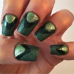 Green chevron  polishes used #zoyapolish Pixie dust Chita, Ray,Meg,