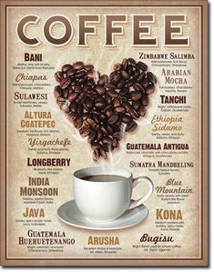 Great coffee poster for a classroom, coffee shop or office with all of the coffee blends on it. Coffee Art, Coffee Signs, I Love Coffee, Coffee Break, Iced Coffee, Coffee Drinks, Coffee Shop, Coffee Cups, Coffee Lovers