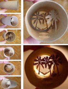 Toilet paper art craft