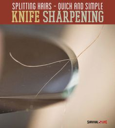 Knife Sharpening 101 --By Craig Caudill on August 15, 2014