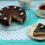 Sernik z advocaatem i czekoladą Pancakes, Pudding, Breakfast, Food, Morning Coffee, Custard Pudding, Essen, Pancake, Puddings