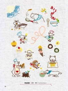 Cute Japanese embroidery book