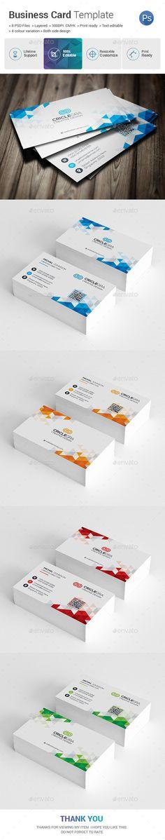 Corporate Business Card Template PSD, AI