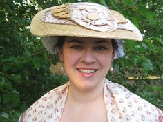 18th Century Straw Hat by Taylor Shelby via Etsy. 18th Century Costume d84ddd1eab1