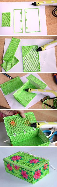 printer design printer projects printer diy Sculpture Sculpture Jewellery box pen creative - Sculpture - Print the sulpture. 3d Drawing Pen, 3d Drawings, Print 3d, 3d Prints, Diy 3d Crafts, 3d Doodle Pen, 3d Zeichenstift, Boli 3d, 3d Pen Stencils