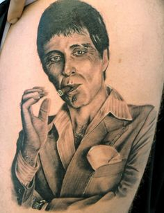 Where's your little friend? #Scarface #tattoo #Ecko