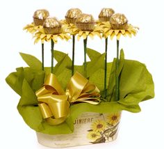 Ferrero rocher sunflowers                                                                                                                                                                                 Más