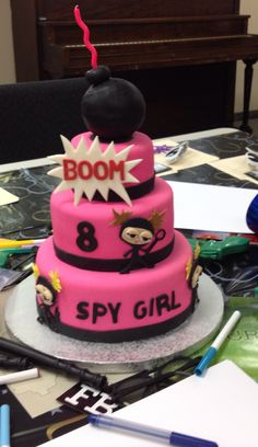 Spy Girl Birthday Cake
