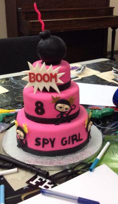 Birthday Cakes For Girls - Novelty Birthday Cakes Spy Kids Party, Girls Birthday Party Themes, Girl Birthday, Spy Cake, Secret Agent Party, Detective Party, Novelty Birthday Cakes, Girl Cakes, Themed Cakes