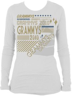 52nd Grammys - Womens L/S Burnout Tee - White