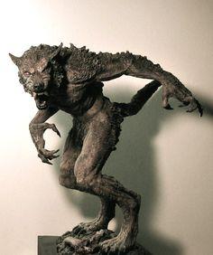 """""""Werewolf"""" by LocascioDesigns on deviantART Alien Creatures, Fantasy Creatures, Mythical Creatures, Toy Art, Wolverine, Dark Fantasy, Fantasy Art, Of Wolf And Man, Skin Walker"""
