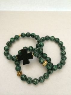#bracelets #jewelry #handmade #gemstones #fashion #crystal #style #beads #pave #cross
