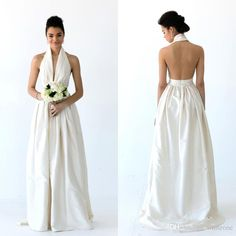 Champagne Bridesmaid Dresses Sexy Open Back Satin Bridesmaid Dress 2016 Halter Pleats Floor Long Maid Of The Honor Gown For Wedding Party Custom Made Cheap Gown Dresses From Whiteone, $79.16| Dhgate.Com