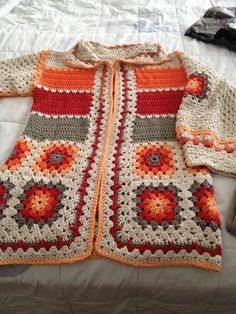 Best crochet sweater for girls granny squares ideas Crochet Girls, Cute Crochet, Crochet For Kids, Beautiful Crochet, Crochet Baby, Crochet Granny, Crochet Coat, Crochet Jacket, Crochet Cardigan