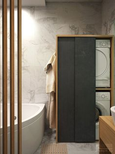 Best Screen Bathroom Storage washing machine Ideas After clever bathroom storage strategies? Bathroom storage is actually very important to trying to k Diy Bathroom Vanity, Laundry In Bathroom, Bathroom Cabinets, Bathroom Flooring, Bathroom Storage, Modern Bathroom, Small Bathroom, Kitchen Cabinets, Bathroom Layout