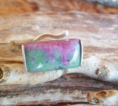 Ruby In Zoisite Ring. Rubi In Zoisite And Sterling Silver by Unics