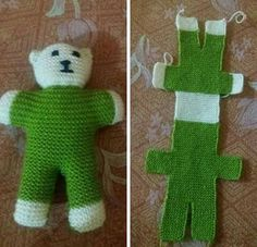 One piece knitted bear