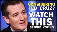 WHAT EVERY VOTER NEEDS TO KNOW ABOUT TED CRUZ. DON'T VOTE FOR THIS CFR-NWO