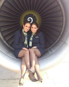 Airline Attendant, Flight Attendant, Hot Air Hostess, Come Fly With Me, Tan Pantyhose, Cabin Crew, Thigh Highs, Thighs, Pin Up