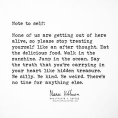 stop treating yourself like an afterthought // nanea hoffman