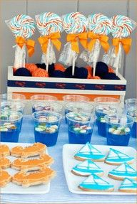Gator colors! And a cute summer party spread.