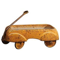 vintage wagon - USA - 1930's great color and function. child's wagon that would be good on table or in kid's room or garden. - Susan Wheeler Home