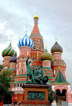 St. Basil's Cathedral in Moscow, Russia, Ivan the Terrible commissioned to build this in the 15th century.