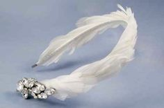 feathered headband w/ jewel