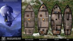 Steam punk fantasy d&d air ship battle map. Find more maps at thedungeongeek.wordpress.com