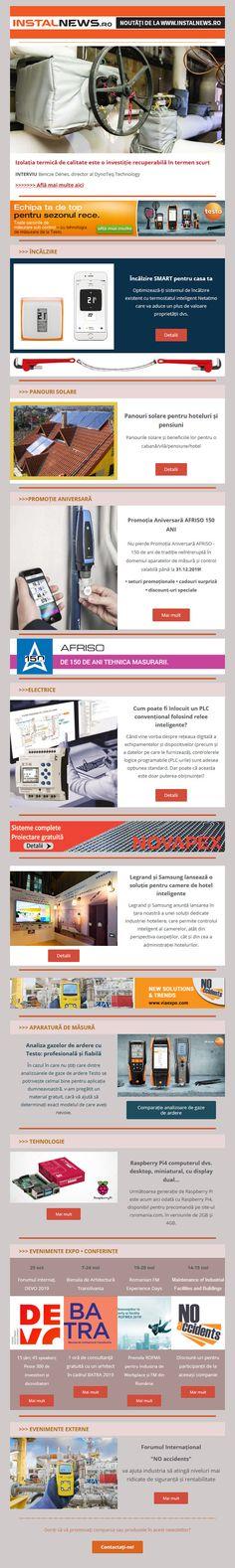 Newsletter InstalNews nr. 164, Octombrie 2019 Web Design, Branding, Design Web, Brand Management, Identity Branding, Website Designs, Site Design