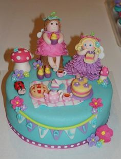 Fairy picnic cake and cupcakes - by jsweetcakes @ CakesDecor.com - cake decorating website