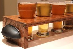 Woodworking Projects Bar fits small snifters as well.Woodworking Projects Bar fits small snifters as well Beer Crafts, Craft Beer, Beer Tasting, Beer Bar, Beer Caddy, Wine Caddy, Beer Sampler, Brew Pub, Diy Bar