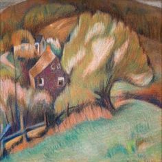 Gertrude Nason, Farm. Find this and other fine art at CuratorsEye.com.
