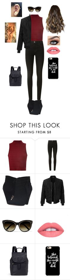 """She believed she could"" by moonyshoes ❤ liked on Polyvore featuring Glamorous, J Brand, Nine West, LE3NO, Chloé and Tory Burch"