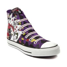 Shop for Converse All Star Hi Harley Quinn Sneaker in Harley Quinn at Journeys Shoes. Shop today for the hottest brands in mens shoes and womens shoes at Journeys.com.DC Comics and Converse team up again to bring the Jokers sidekick, Dr. Harleen Frances Quinzel, better know as the beautiful and dangerous Harley Quinn out of Arkham City and into your life! This style features a canvas upper with Harley Quinn graphics.Available exclusively at Journeys!Please note that this shoe runs a half…