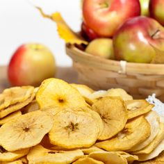 This recipe for apple chips is very easy and makes for a healthy snack.. Apple Chips Recipe from Grandmothers Kitchen.