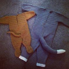 Crochet Tom and Jerry costumes