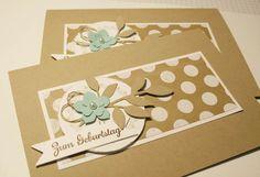 Geburtstagskarte Zum Geburtstag Punkte Stampin up von naturelove auf DaWanda.com