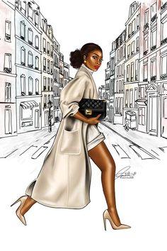 Black Love Art, Black Girl Art, Black Girl Fashion, Black Is Beautiful, Black Girl Magic, Art Girl, Fashion Art, Black Girls Power, Black Girls Rock