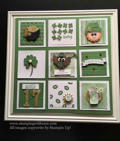 Image may contain: indoor Frame Crafts, Diy Frame, Scrapbooking Layouts, Scrapbook Cards, St Patricks Day Cards, Shadow Box Frames, Collage Frames, Candy Cards, Pocket Letters