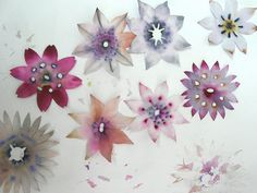 Gorgeous watercolor paper flowers.