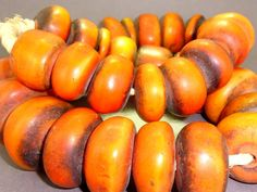 African antique amber beads So beautiful, and so old.