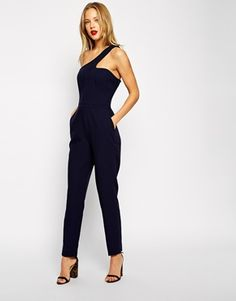 Image 4 of ASOS One Shoulder Cut Out Jumpsuit